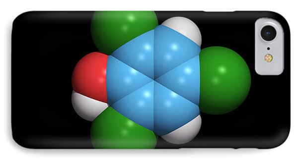 Molecule Of A Component Of Tcp Antiseptic Phone Case by Dr Tim Evans