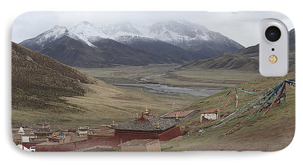 Monastery Buildings In Mountain Valley IPhone Case