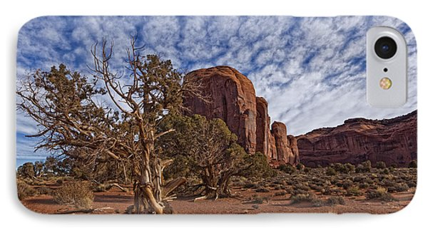 Morning Clouds Over Monument Valley Phone Case by Robert Postma