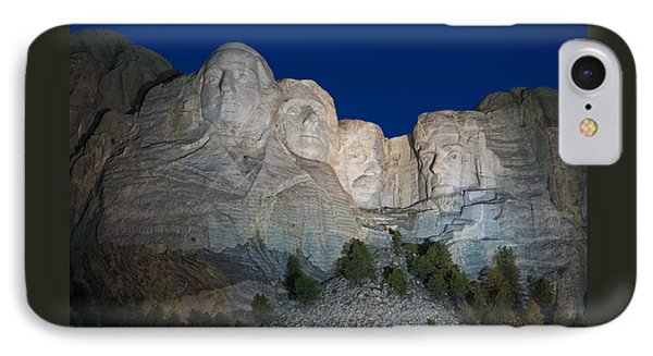 Mount Rushmore Nightfall IPhone Case by Steve Gadomski