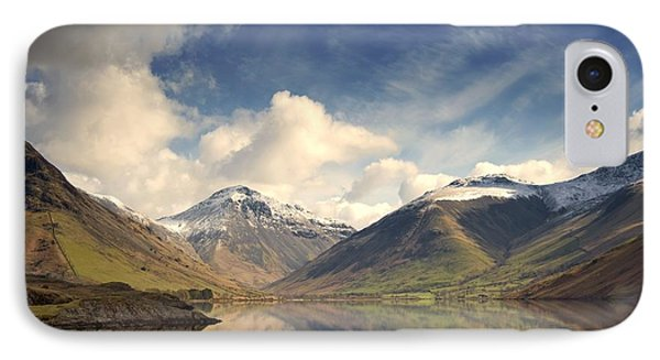 IPhone Case featuring the photograph Mountains And Lake At Lake District by John Short