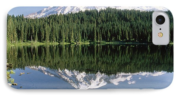 Mt Rainier Reflected In Lake Mt Rainier Phone Case by Tim Fitzharris