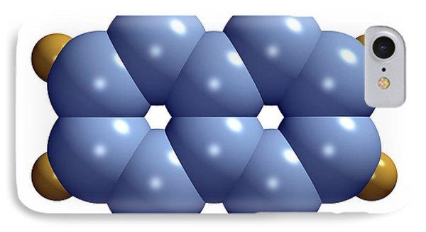 Naphthalene Molecule Phone Case by Dr Mark J. Winter