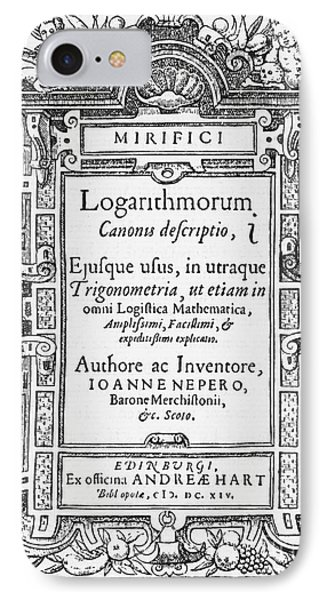 Napiers Treatise On Logarithms Phone Case by Photo Researchers