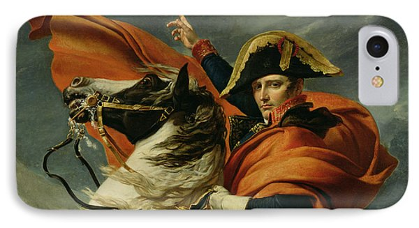 Napoleon Crossing The Alps On 20th May 1800 Phone Case by Jacques Louis David