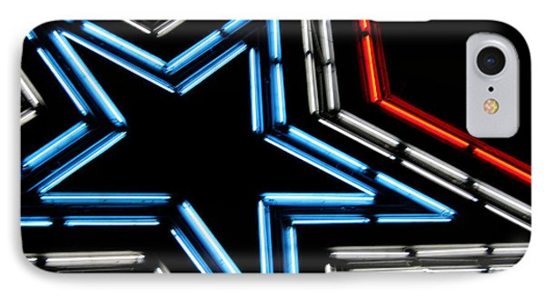 Neon Star IPhone Case by Darren Fisher