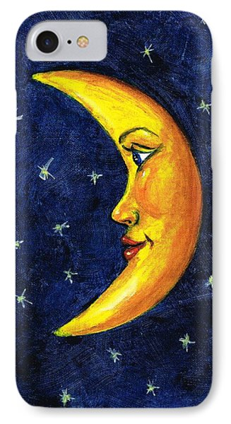 IPhone Case featuring the painting New Moon by Sarah Farren