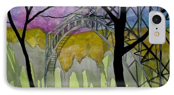 IPhone Case featuring the painting New River George Bridge by Amy Sorrell