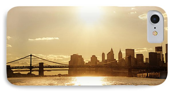 New York City Sunset Phone Case by Vivienne Gucwa