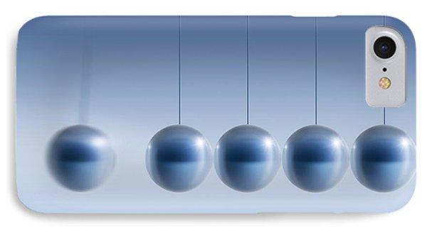 Newton's Cradle, Artwork Phone Case by Detlev Van Ravenswaay