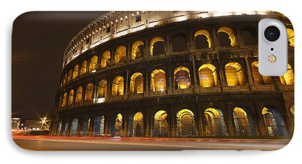 Night Lights Of The Colosseum Rome Phone Case by Trish Punch