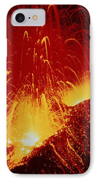 Night View Of Eruption Of Alaid Volcano, Cis Phone Case by Ria Novosti