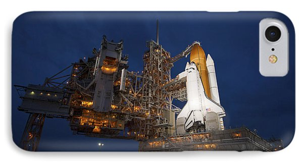 Night View Of Space Shuttle Atlantis Phone Case by Stocktrek Images