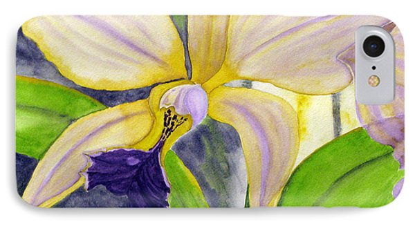 IPhone Case featuring the painting No Ordinary Orchid by Debi Singer