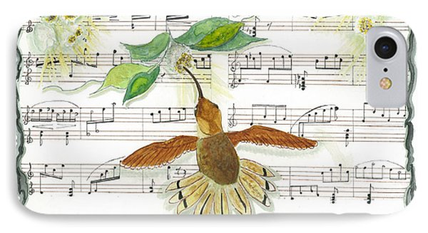 IPhone Case featuring the mixed media 1 Of 2 - Natures Symphony-the Conductor by Joy Braverman