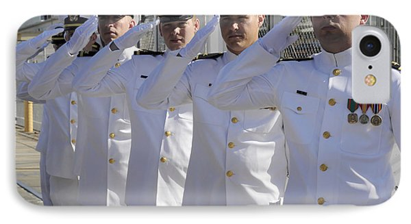 Officers Render Honors During A Change Phone Case by Stocktrek Images