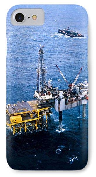 Oil Platform Phone Case by Arno Massee