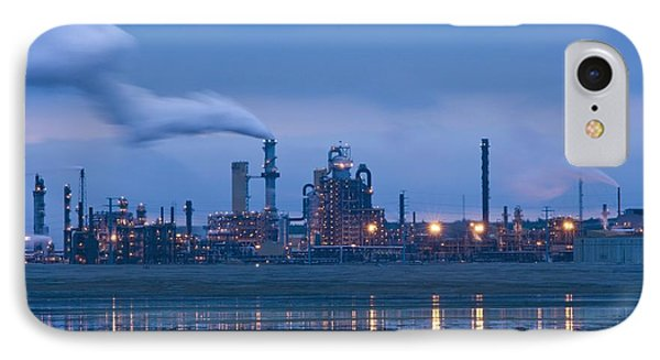 Oil Refinery At Dusk IPhone Case