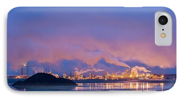 Oil Refinery At Night IPhone Case