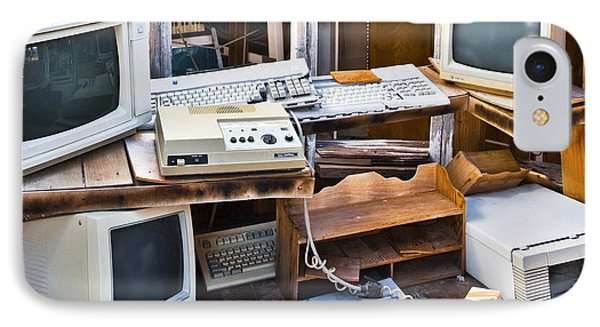 Old Computers In Storage Phone Case by Eddy Joaquim
