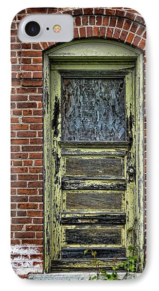 IPhone Case featuring the photograph Old Green Door by Joanne Coyle