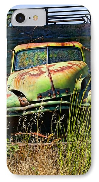 Old Green Truck Phone Case by Garry Gay