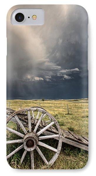 Old Prairie Wheel Cart Saskatchewan Phone Case by Mark Duffy
