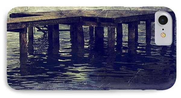 Old Wooden Pier With Stairs Into The Lake Phone Case by Joana Kruse
