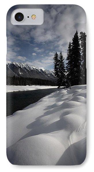 Open Water In Winter Phone Case by Mark Duffy