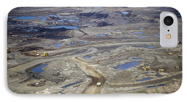 Opencast Mine, Athabasca Oil Sands IPhone Case