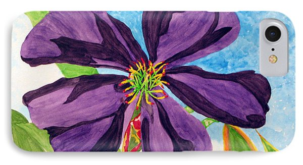 IPhone Case featuring the painting Our Very Bold Tibouchina by Debi Singer