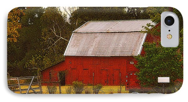 IPhone Case featuring the photograph Ozark Red Barn by Lydia Holly