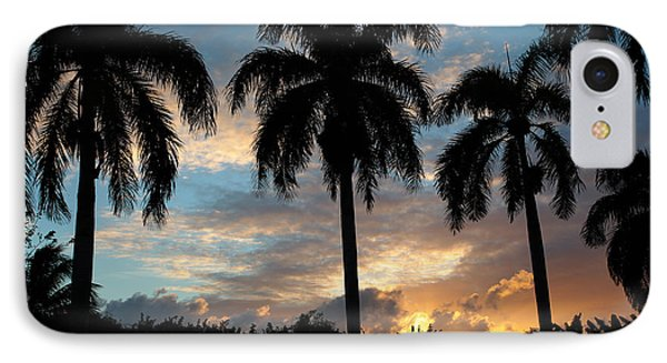 IPhone Case featuring the photograph Palm Tree Silhouette by Karen Lee Ensley