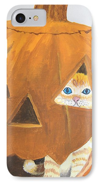 IPhone Case featuring the painting Peekaboo by Norm Starks
