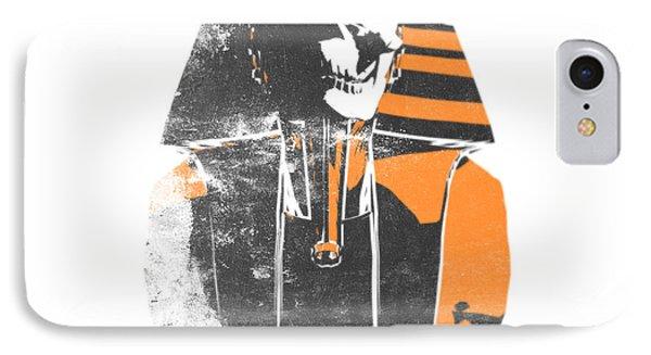 Pharaoh Stencil  Phone Case by Pixel  Chimp