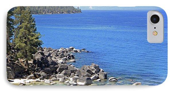 Pines Boulders And Crystal Waters Of Lake Tahoe Phone Case by Frank Wilson