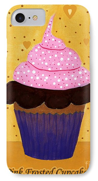 Pink Frosted Cupcake Phone Case by Barbara Griffin