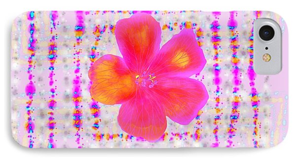 IPhone Case featuring the digital art Pink On Pink by Barbara Moignard