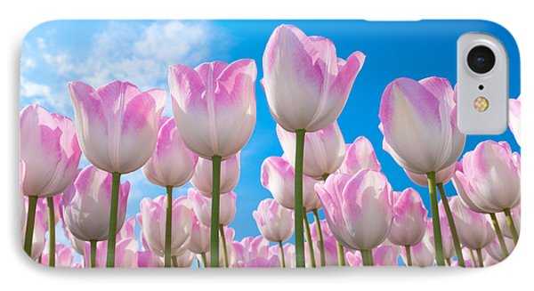 IPhone Case featuring the photograph Pink Tulips by Hans Engbers