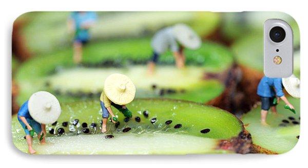 Planting Rice On Kiwifruit Phone Case by Paul Ge
