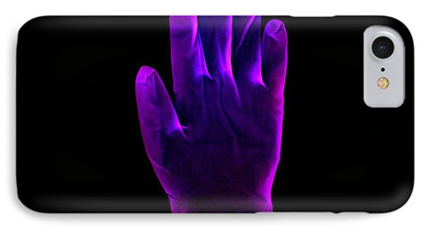 Plastic Glove, Negative Image Phone Case by Kevin Curtis