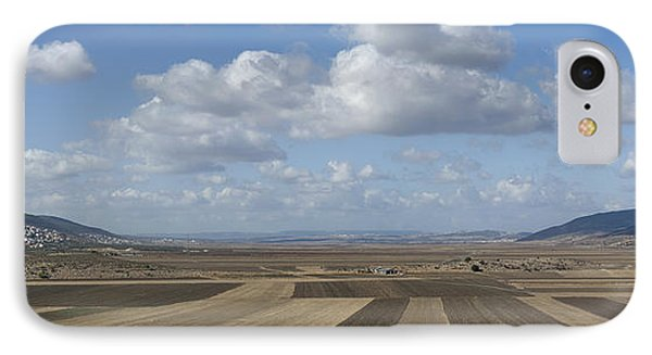Plowed Agricultural Fields In The Beit Netofa Valley Phone Case by Noam Armonn