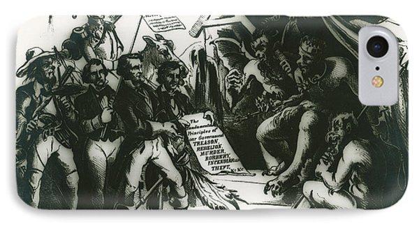 Political Cartoon Of The Confederacy IPhone Case