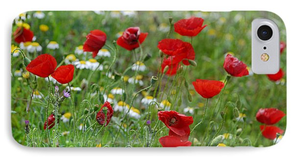 Poppies Phone Case by Guido Montanes Castillo