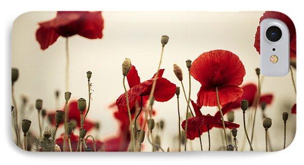 Poppy Flowers 03 IPhone Case