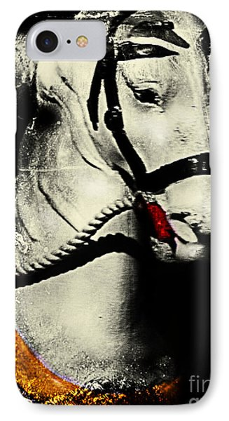 Portrait Of A Carousel Pony Phone Case by Colleen Kammerer