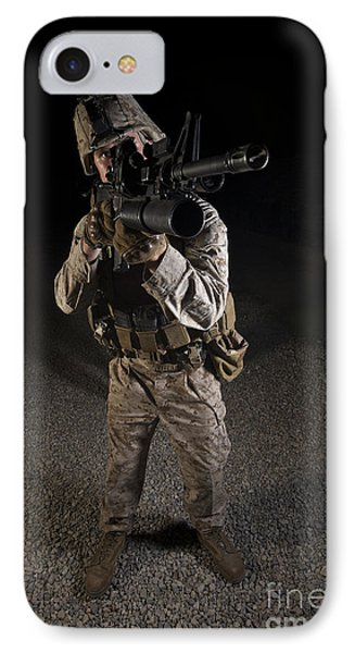 Portrait Of A U.s. Marine In Northern Phone Case by Terry Moore