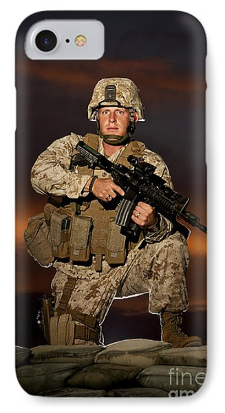 Portrait Of A U.s. Marine In Uniform Phone Case by Terry Moore