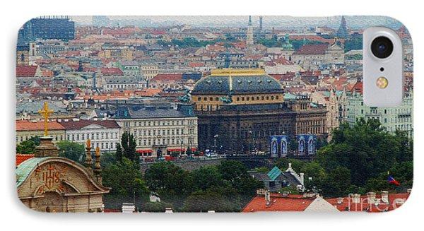 Prague Skyline Phone Case by Pravine Chester