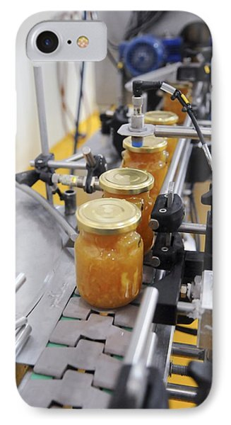 Preserve And Jam Bottling Production Line Phone Case by Photostock-israel